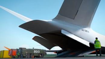 PAK TA, un concept d'avion cargo supersonique russe Photo : Capture d'écran Alexey Komarov/Vimeo