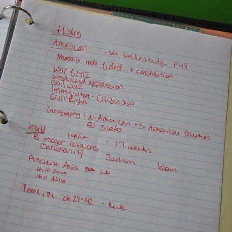 1. Ecrire dans un classeur ou cahier à spirales…