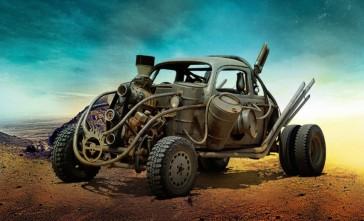 """Les bolides de """"Mad Max : Fury Road"""" FDK - Si vous avez l'impression d'y reconnaître la forme d'une New Beetle de Volkswagen, c'est normal."""