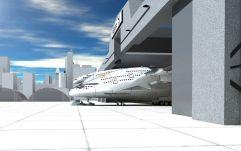 Des pilotes en position surélevée L'emplacement du cockpit permettra aux pilotes d'embrasser visuellement quasiment la totalité de l'avion.