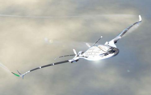 Progress Eagle, un avion solaire à trois étages Ce projet pourrait voir le jour aux alentours de 2030. Photo : Oscar Viñals / AWWA - Quantum Airplaine