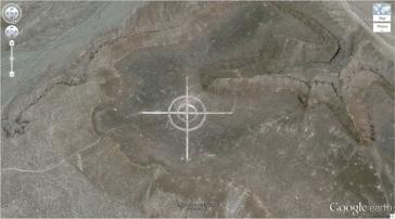 La cible géante dans le désert (37.563936, -116,85123) Nevada, États-Unis
