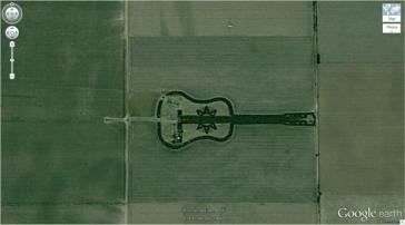 Une forêt en forme de guitare (-33,867886, -63,987) Cordoba, Argentine
