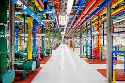 A l'intérieur d'un des centres de données de Google