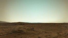 Mars en vraie couleur du robot Curiosity Rover