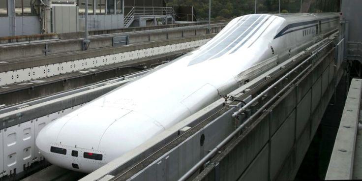 L'aérodynamique très poussée du Maglev. Photo : Tsuyoshi Matsumoto/AP/SIPA