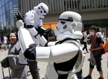 "Cosplayer dressed up as ""Star Wars"" character Storm Trooper takes part in a Star Wars Day fan event in Tokyo"