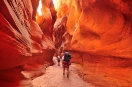 Le canyon Bucksin Gulch dans l'Utah est très populaire aux États-Unis ! Certains passages sont si étroits qu'il vous faut enlever votre sac à dos !