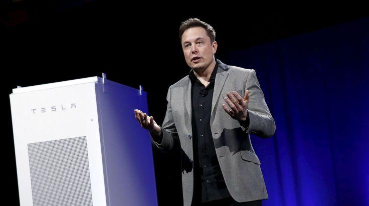 """La Tesla Powerwall doit changer """"la totalité de l'infrastructure énergétique dans le monde"""" selon le fondateur de la société de voiture électrique éponyme Elon Musk. Patrick T.Fallon/Reuters"""