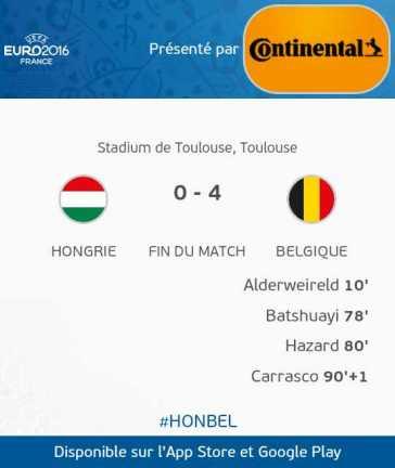 Hongrie VS Belgique