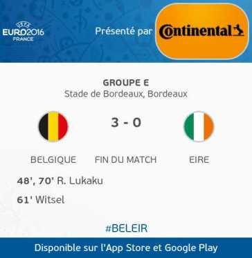 Belgique VS République Irlande