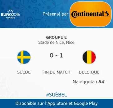 Suède VS Belgique