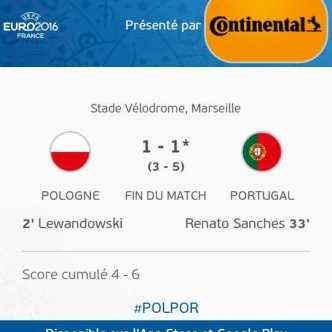 Pologne 1 - 1* Portugal